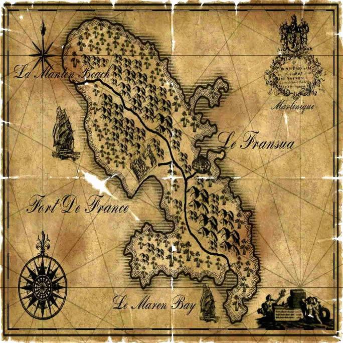 Carte ancienne de la Martinique