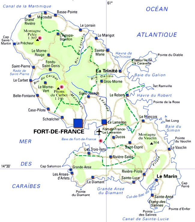 Carte Martinique Detaillee.Le Marin Martinique Cartes Photos Et Infos Touristiques